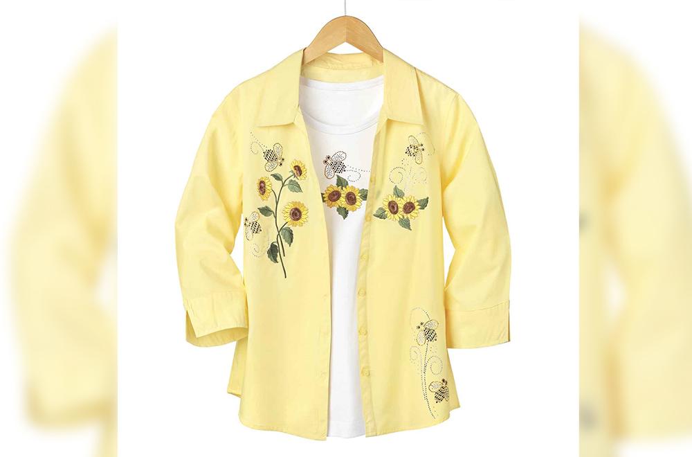 Sunflower and Bee Shirt Set
