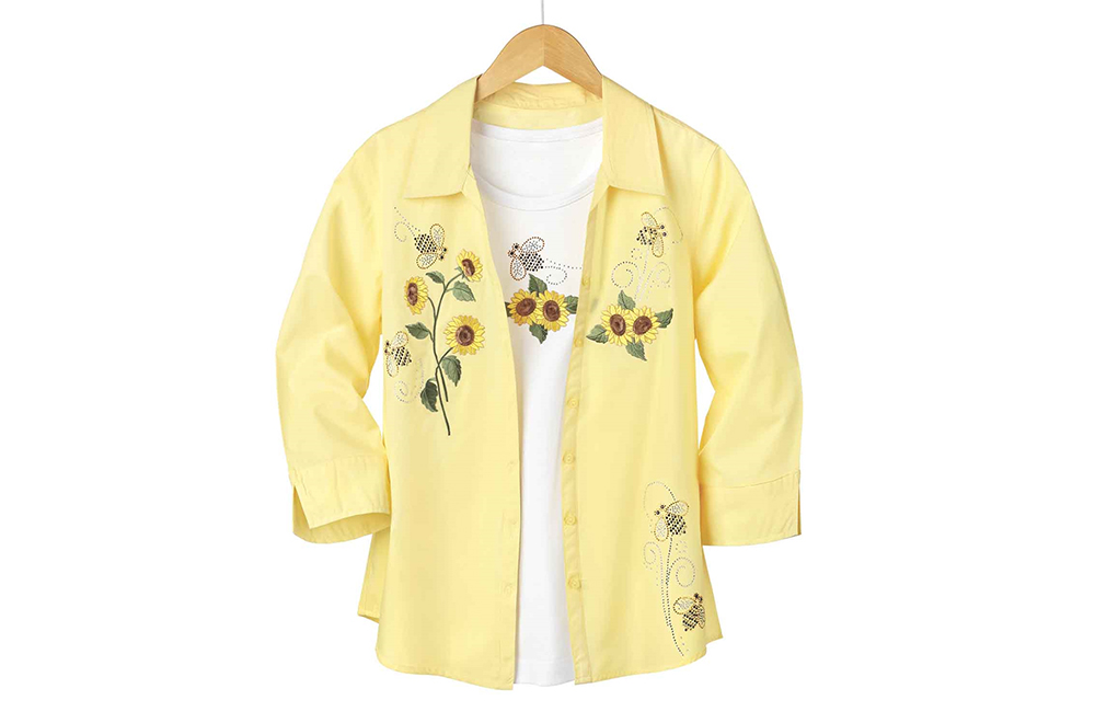 Sunflower and Bee Shirt Set