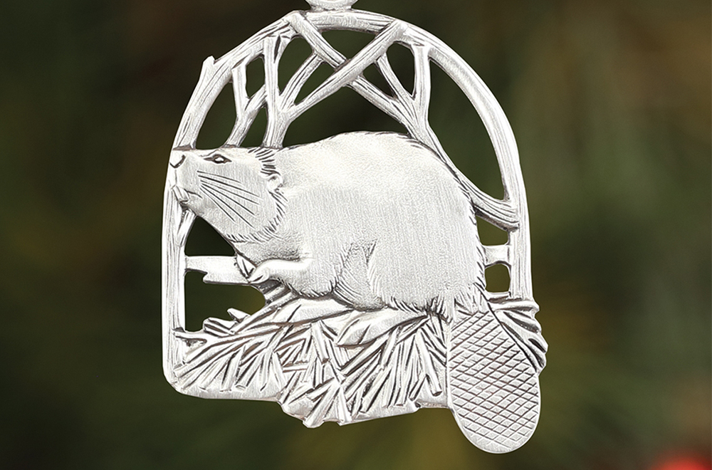 Beaver Plant a Tree Ornament