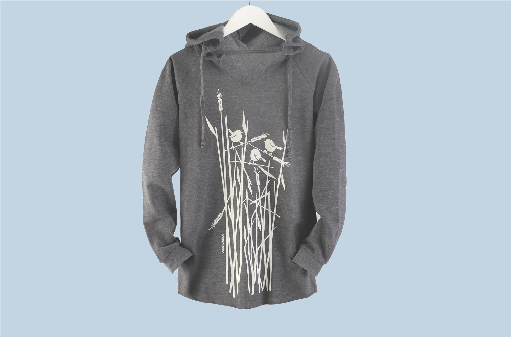 Wheat Bird Hooded Pullover