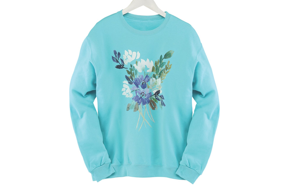 Floral Blues Pullover