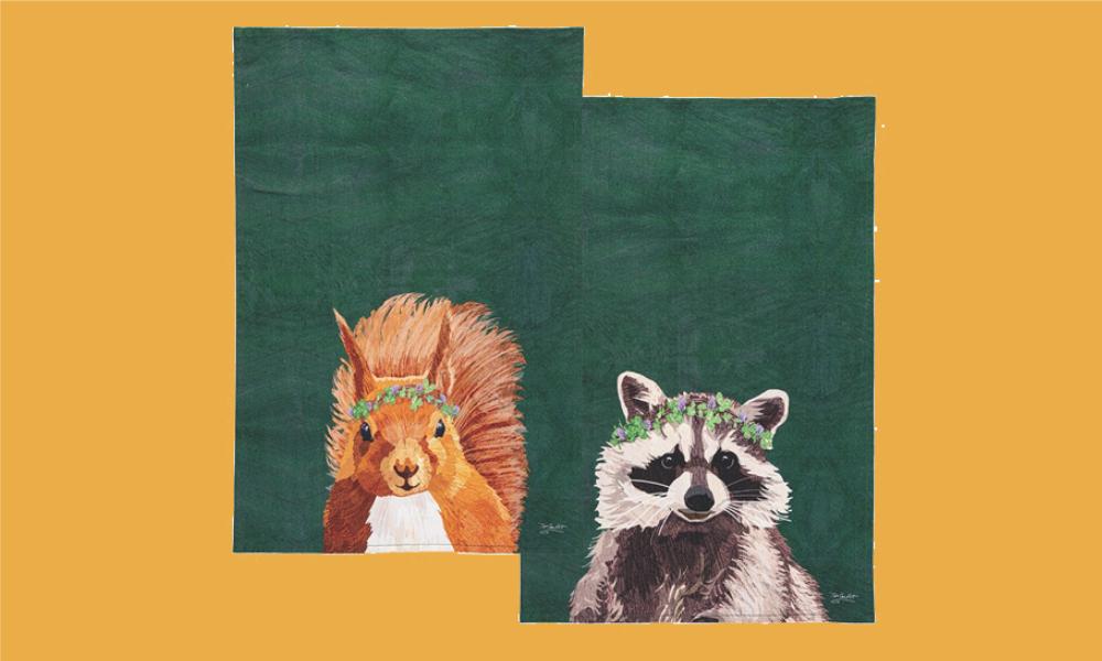 Squirrel and Raccoon Towel Set