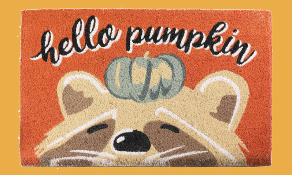 Hello Pumpkin Coir Mat