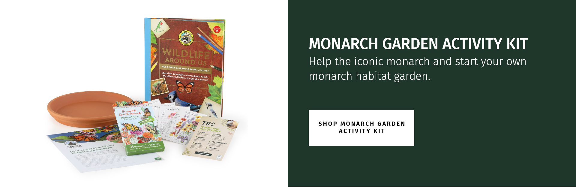 Monarch garden activity kit. help the iconic monarch and start your own monarch habitat garden.