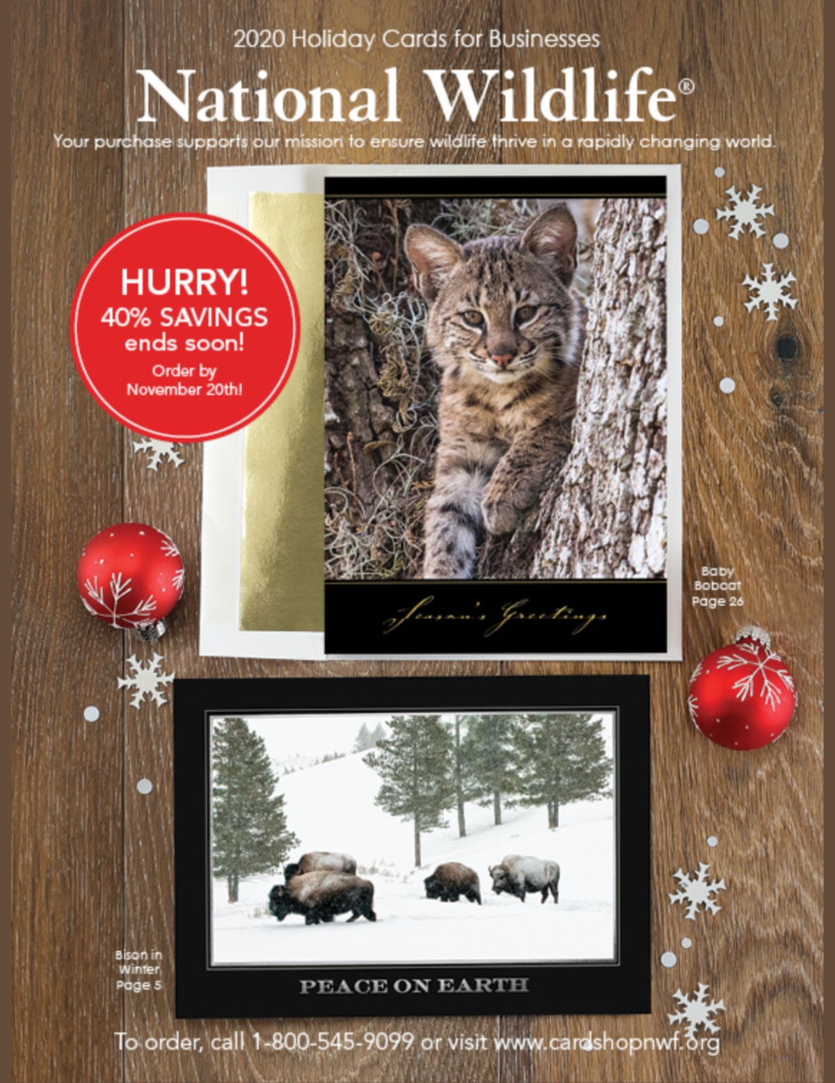 National Wildlife Christmas Cards 2021 Catalog 2020 Holiday Cards For Business The National Wildlife Federation