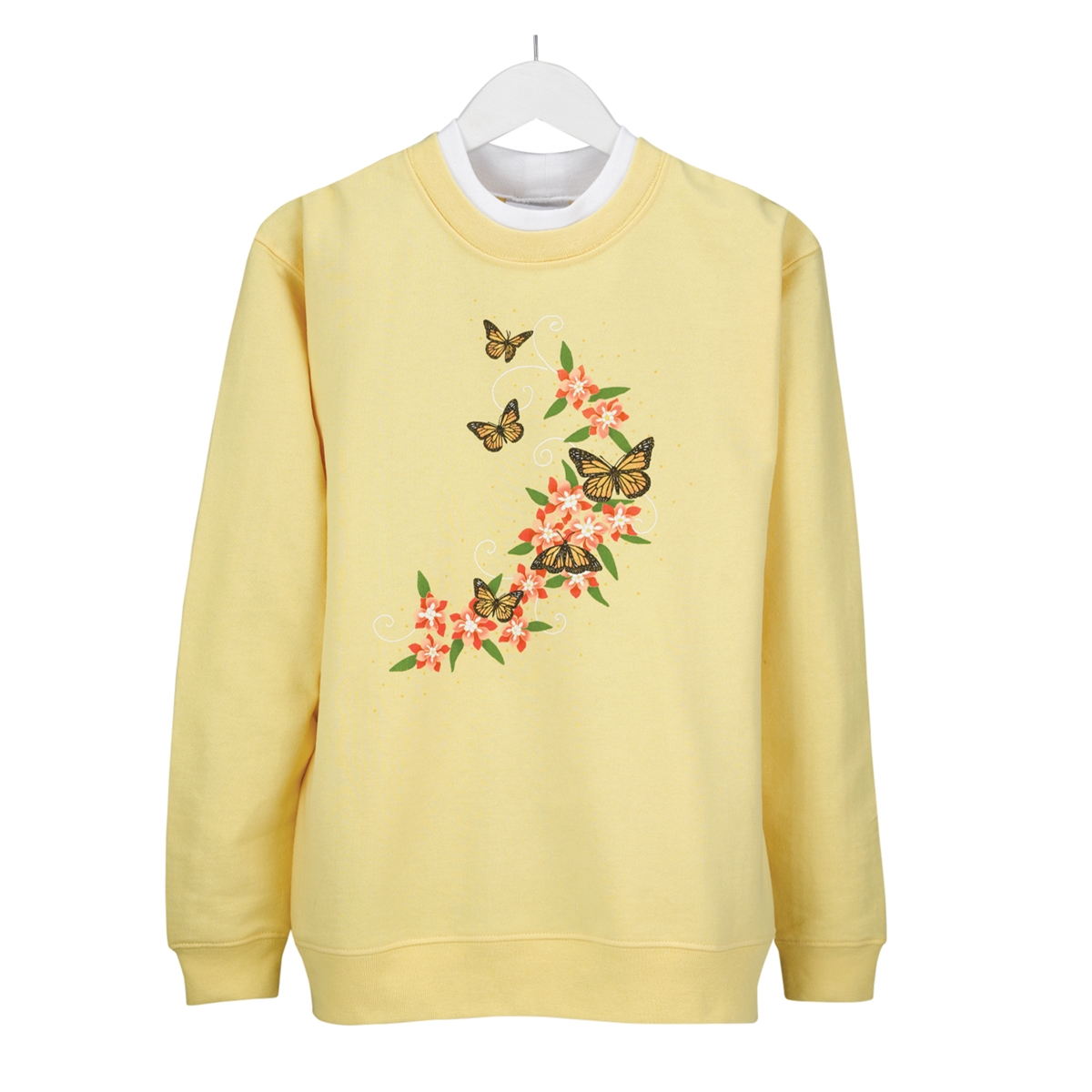 Flutter Floral Pullover