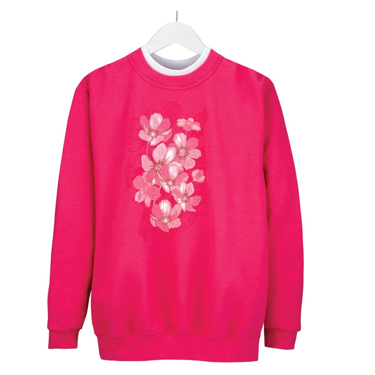 Soft Foil Floral Pullover