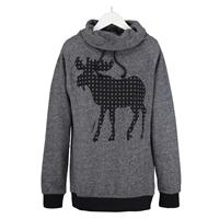 Moose Funnel Neck Pullover