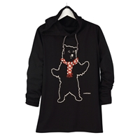 Bear in Scarf Hooded Tee
