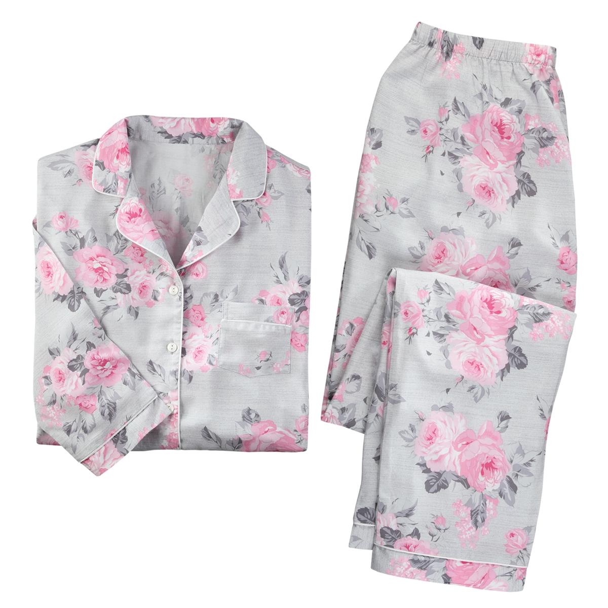 Rose Print Pajama Set
