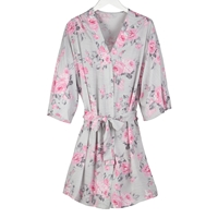 Rose Print Robe