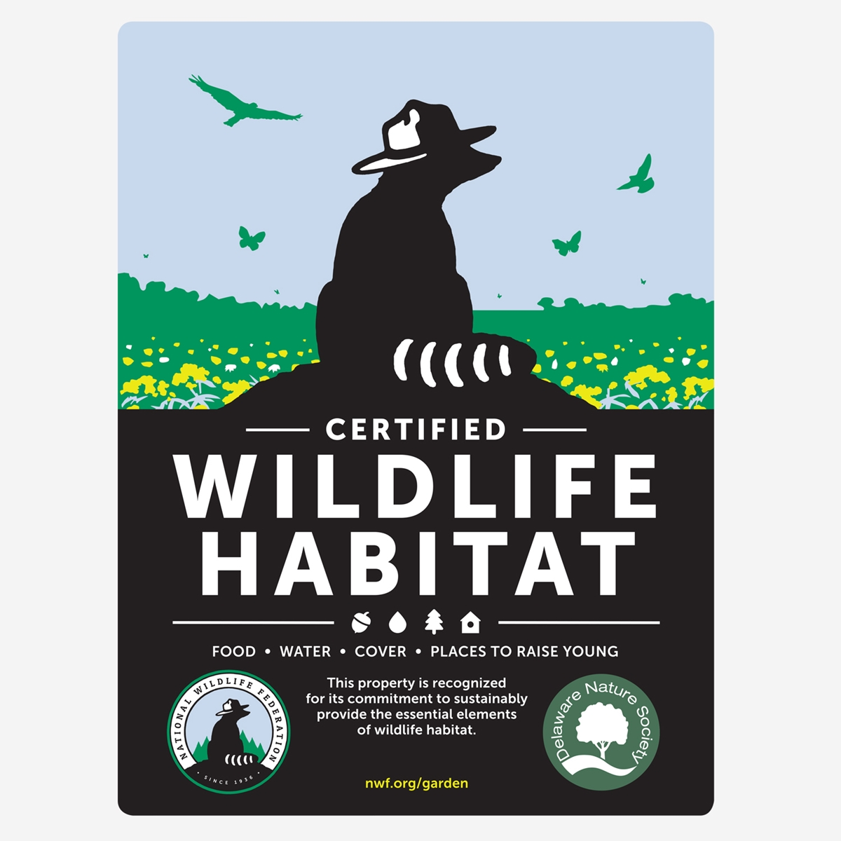 Delaware Wildlife Federation Certified Wildlife Habitat Sign