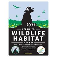 Illinois Prairie Rivers Network Certified Wildlife Habitat Sign