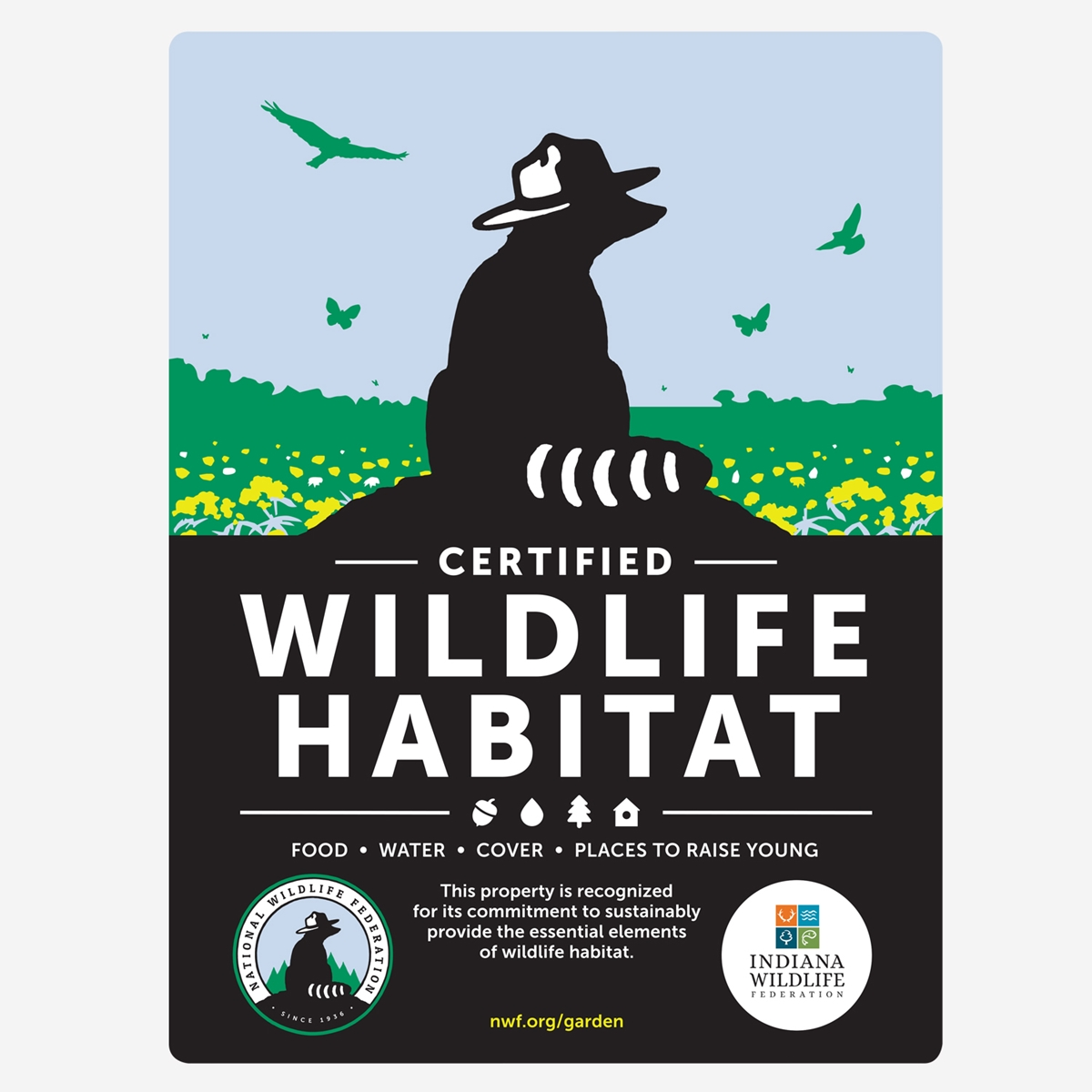 Indiana Wildlife Federation Certified Wildlife Habitat Sign