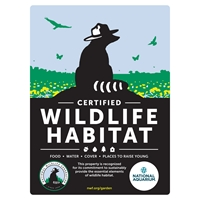 Maryland National Aquarium Certified Wildlife Habitat Sign