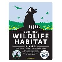 Montana Wildlife Federation Certified Wildlife Habitat Sign