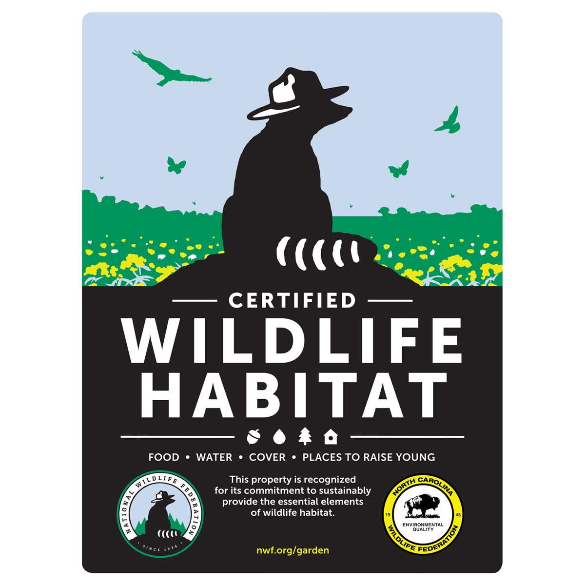 North Carolina Wildlife Federation Certified Wildlife Habitat Sign