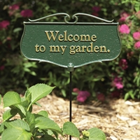 Welcome to My Garden Plaque