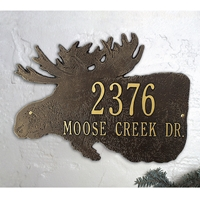Moose Silhouette Personalized Plaque