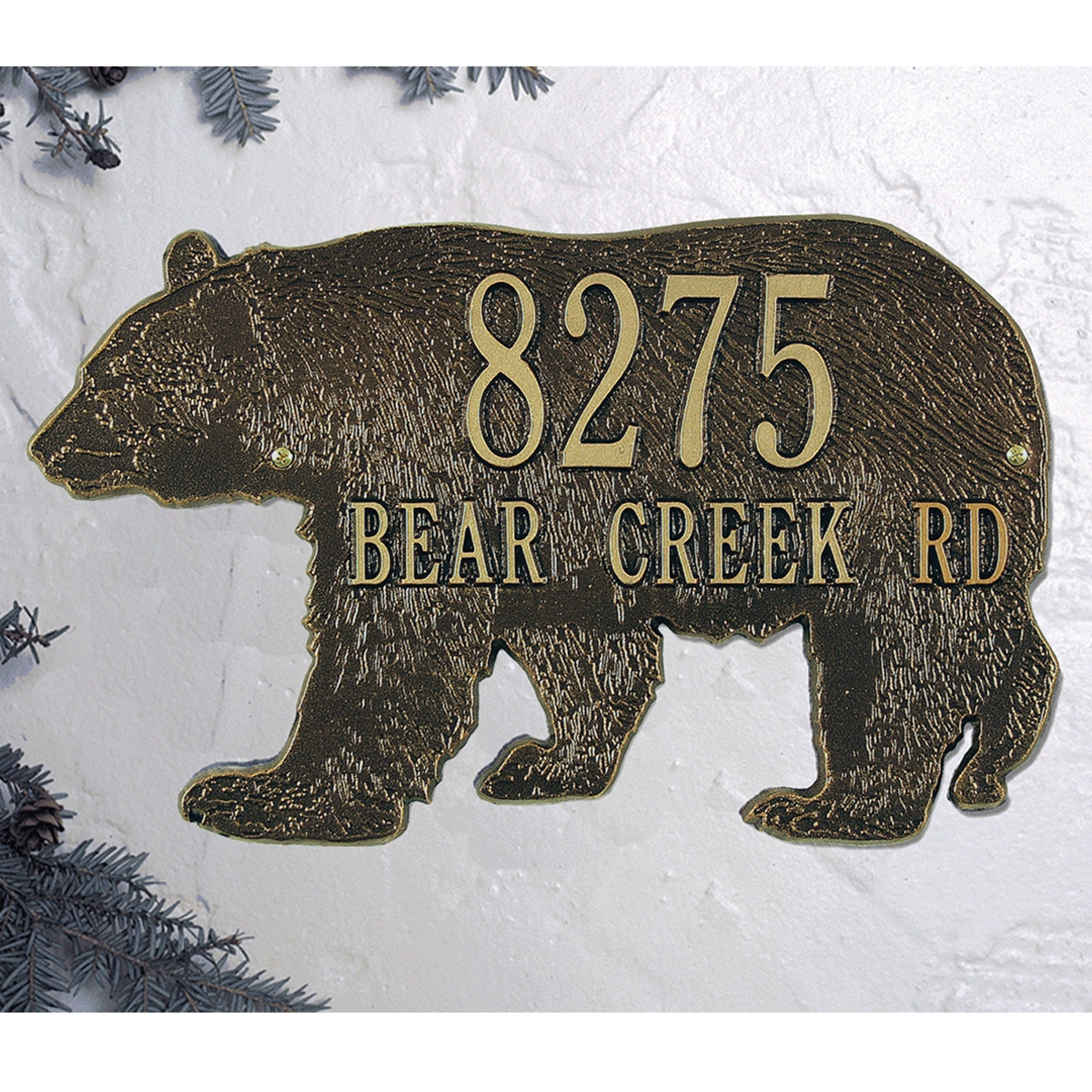 Bear Silhouette Personalized Plaque