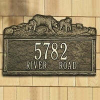 Woodland Bears Personalized Plaque