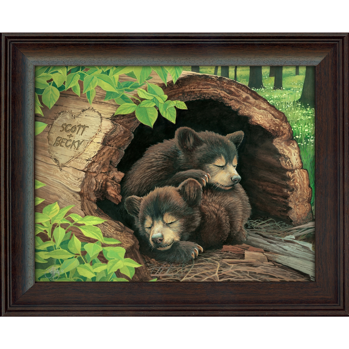 Bear Cubs Personalized Art Print