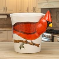 Cardinal Painted Mug