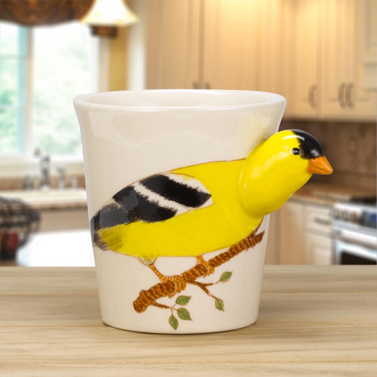 Goldfinch Painted Mug
