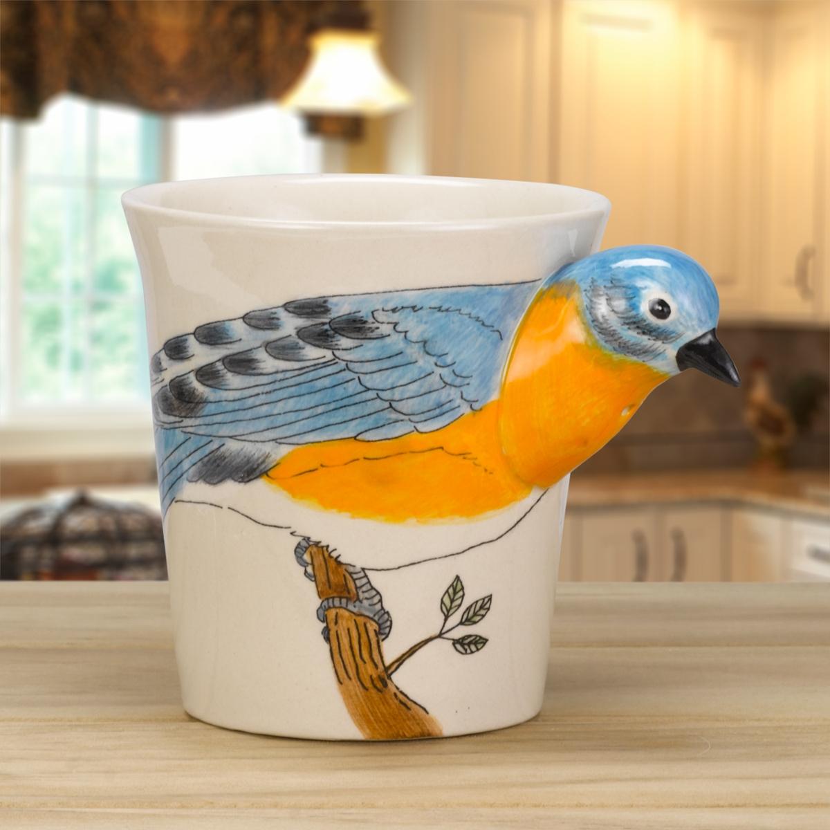 Bluebird Painted Mug
