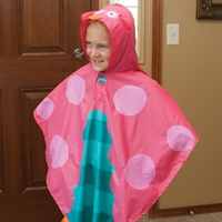 Pink Owl Collection Rain Poncho