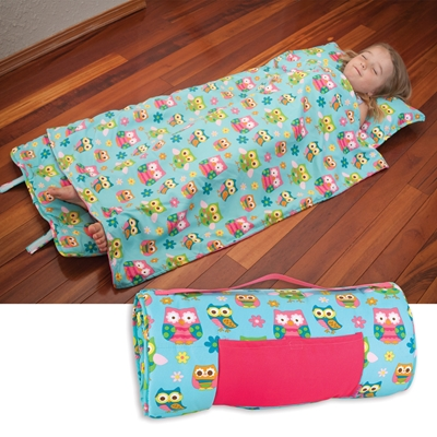 Pink Owl Collection Nap Mat