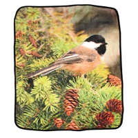 Chickadee Fleece Throw