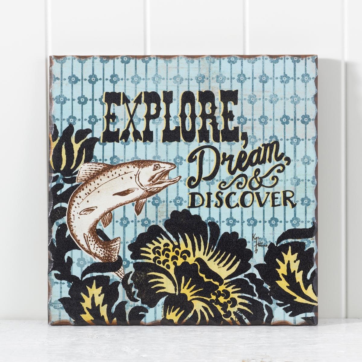 Explore Trout Plaque