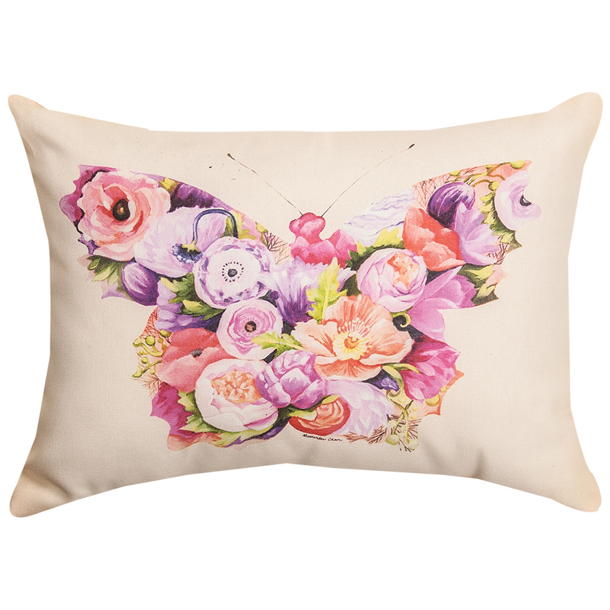 Floral Butterfly Pillow