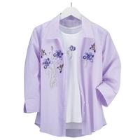 Hummingbird and Iris Shirt Set