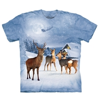 Deer in White Tee