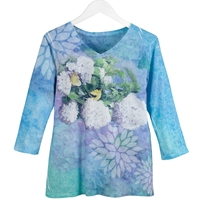 Hydrangea Spring Floral Tee