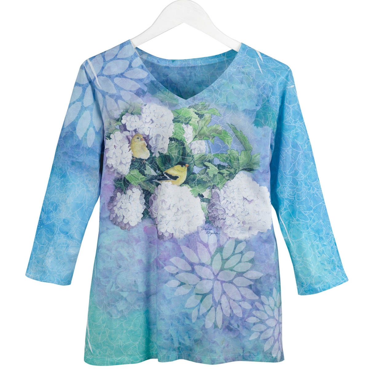 Hydrangea Spring Floral Tee