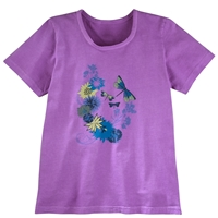 Flowers and Dragonflies Tee