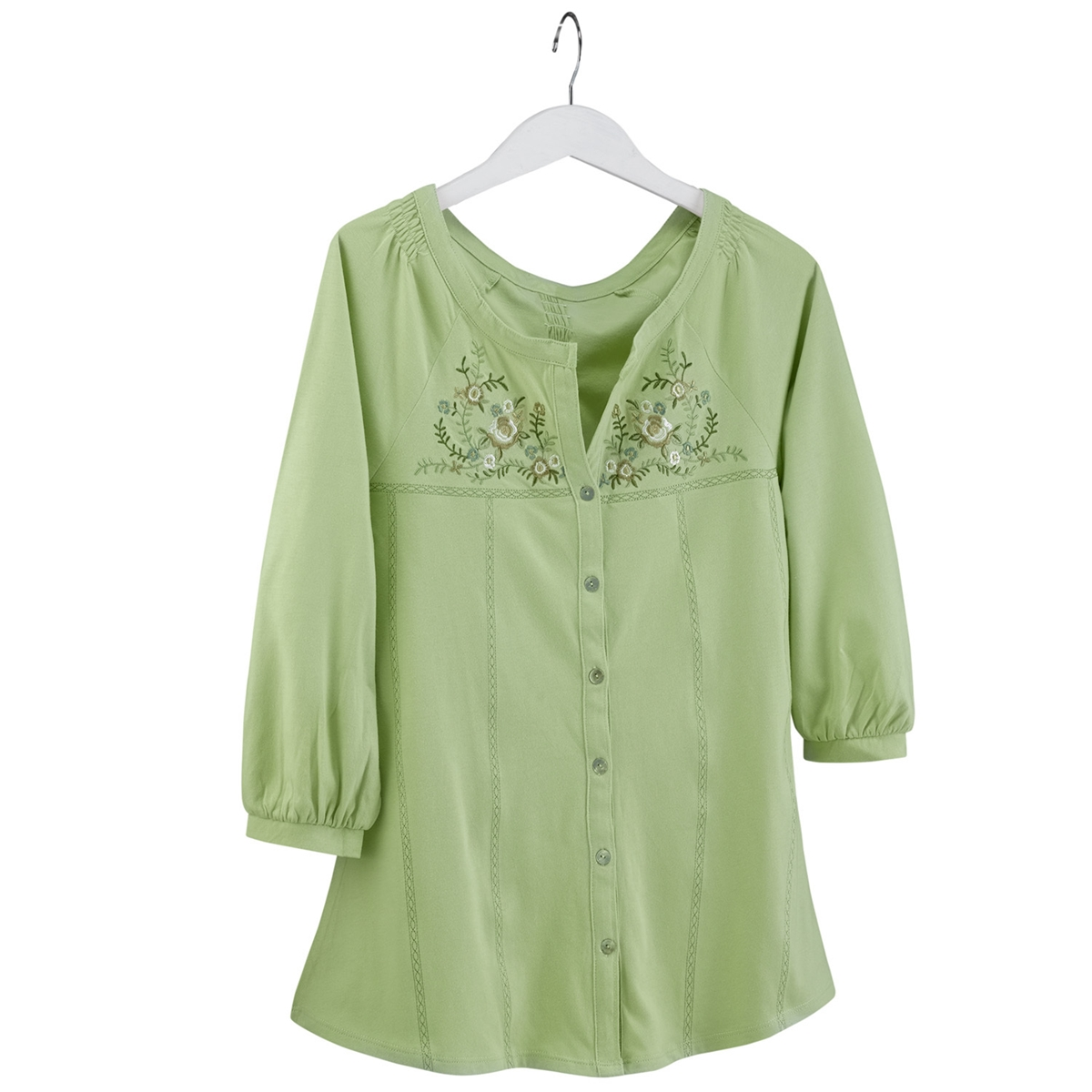 Embroidered Margarita Floral Tunic