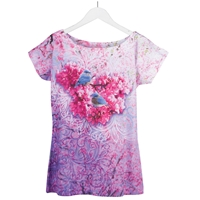 Bluebirds and Redbuds Sublimation Tee