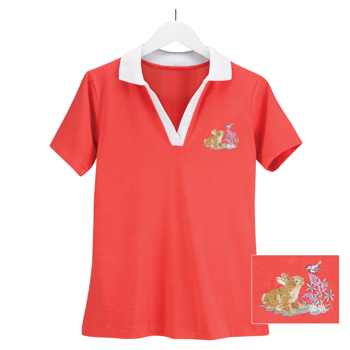 Bunny & Flowers Polo