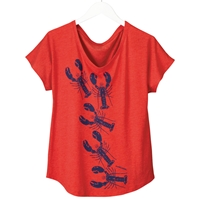 Lobster Crawl Dolman Sleeve Tee