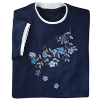 Chambray Flower Vine Tee