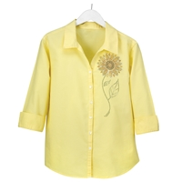 Jeweled Sunflower Button Up Shirt