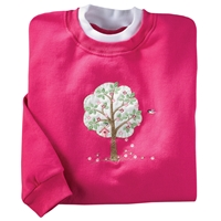 Spring Tree and Birdhouse Pullover