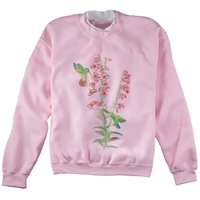 Hummingbird and Penstemon Pullover