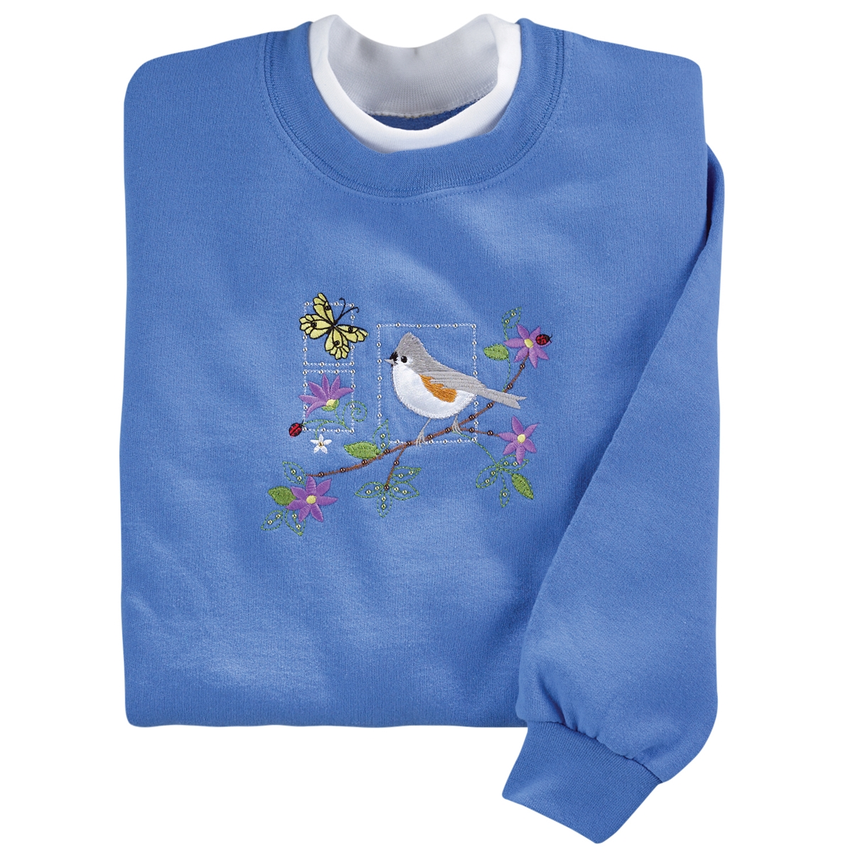 Tufted Titmouse Perch Pullover