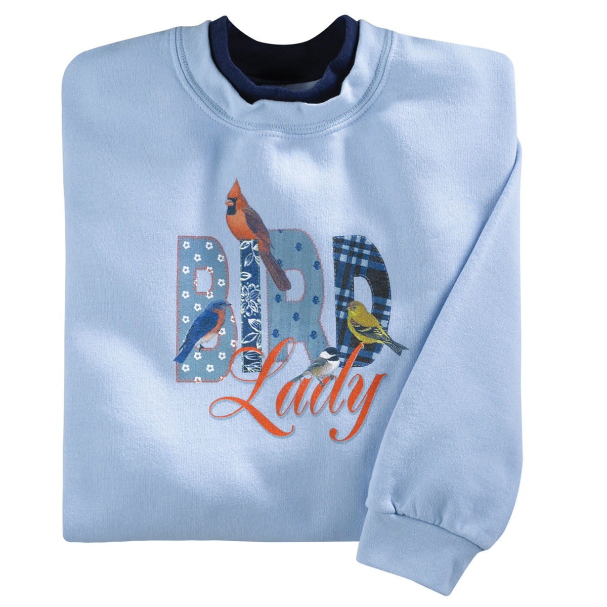 Colorful Bird Lady Pullover