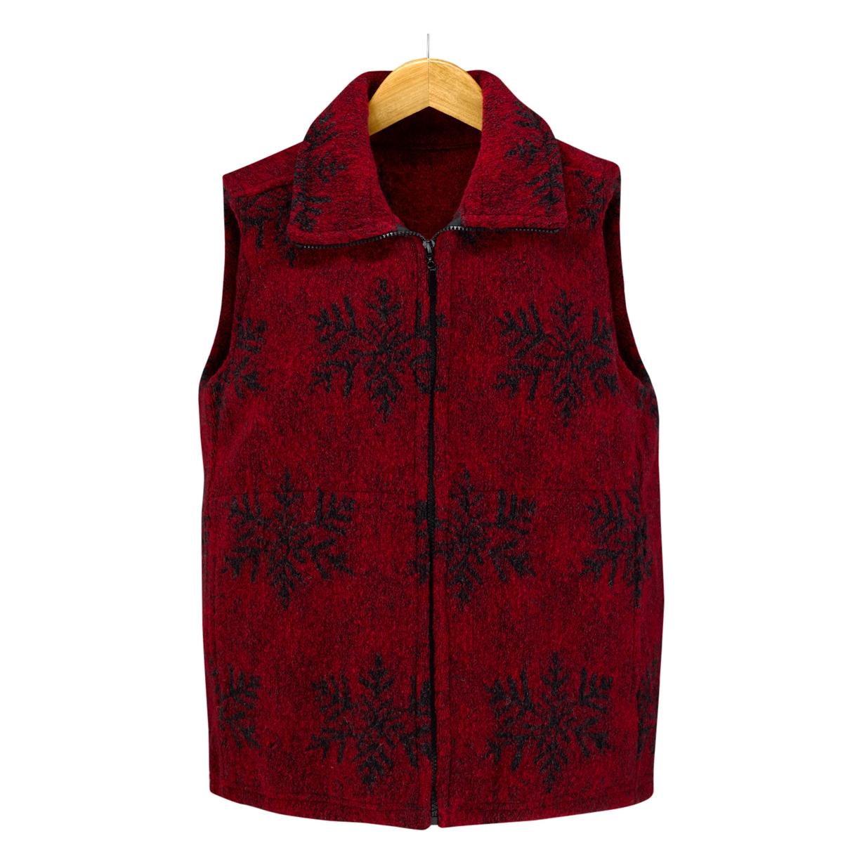 Red Snowflake Vest